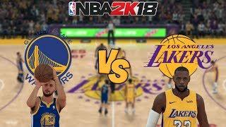 NBA 2K18 - Golden State Warriors vs. Los Angeles Lakers (LeBron James!) - Full Gameplay