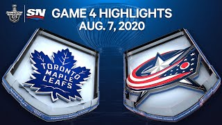 NHL Highlights | Maple Leafs vs. Blue Jackets, Game 4 - Aug 7. 2020