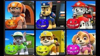 Aprende los Colores en Ingles en Halloween con la Patrulla Canina y Calabazas  Halloween de colores