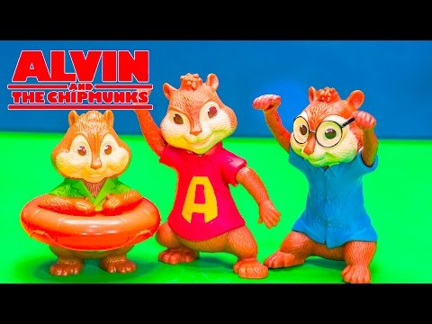 Opening Blind Bag Surprise with Alvine and the Chipmunks Toys