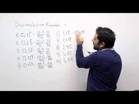 Decimales a fracción 3