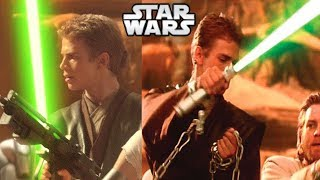 Why Anakin Was Given a GREEN Lightsaber by the Jedi - Star Wars Explained