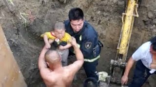 Race for life: rescue operation on toddler in narrow well