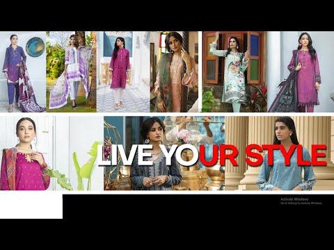 Unstitched Pakistani Lawn Suits - Women's Unstitched Suits - BuyZilla.pk