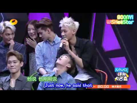 EXO - 140705 Happy Camp 快乐大本营 (eng subbed)