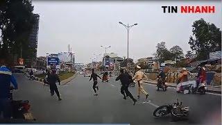 Cuộc rượt đuổi của hơn 30 cảnh sát giao thông với quái xế bị