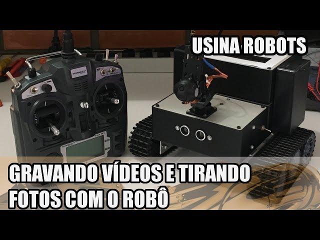 GRAVANDO VÍDEOS E TIRANDO FOTOS COM O ROBÔ! | Usina Robots US-2 #148