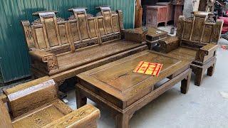 Bàn ghế phòng khách gỗ mun víp siêu dày vân tuyển 7 món 39triệu 0944490000 0983735596