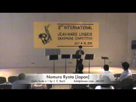 3rd JMLISC: Nomura Ryota (Japan) Cello Suite N.1 J.S. Bach