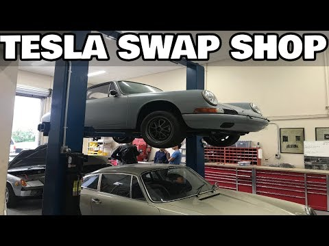 Here's What we Found Inside a Tesla Conversion Shop