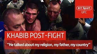 Khabib post-fight press conference: McGregor disrespected my father and religion | UFC 229