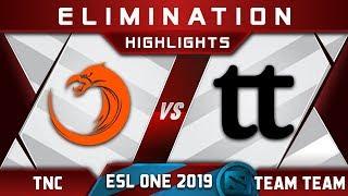 TNC vs Team Team [EPIC] ESL One Mumbai 2019 Highlights Dota 2
