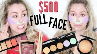 $500 Full Face First Impressions | New Makeup Drugstore/Highend